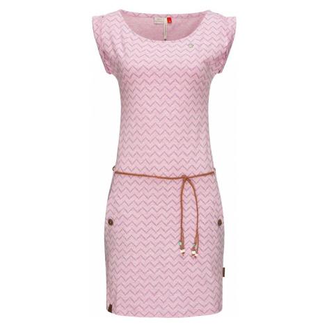 Ragwear Letnia sukienka 'Tag Zig Zag' pastelowy róż / jasnofioletowy / karmelowy