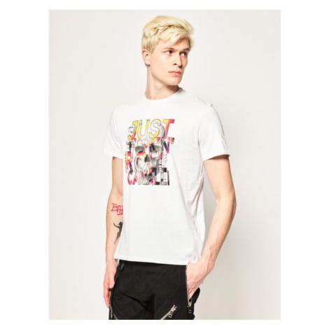 Just Cavalli T-Shirt S01GC0612 Biały Regular Fit