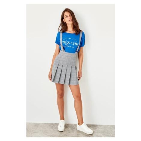 Trendyol Gray-Strap Skirt