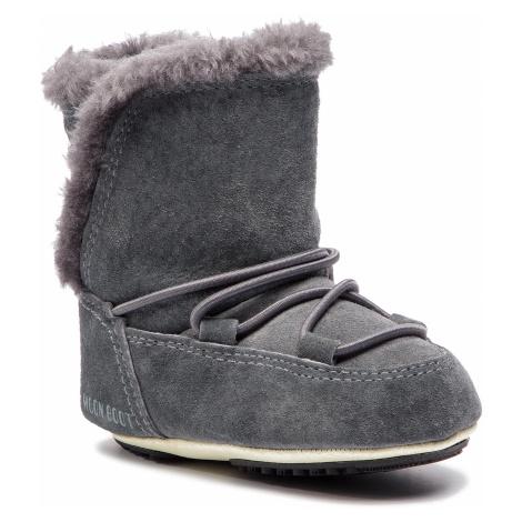 Śniegowce MOON BOOT - Crib Suede 34010300002 Dark Gray