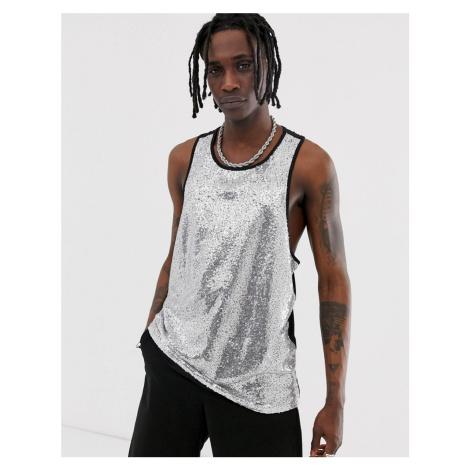 Urban Threads festival irridescent sequin vest