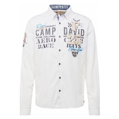 CAMP DAVID Koszula ciemny niebieski / biały