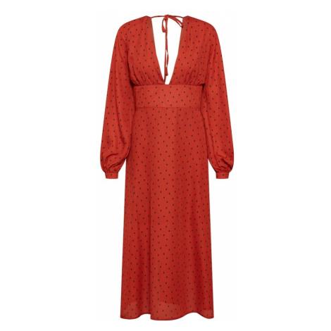 Fashion Union Sukienka 'FLIRTY' czerwony / czarny