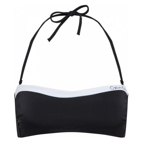 Calvin Klein Swimwear Góra bikini 'BANDEAU-RP' czarny / biały
