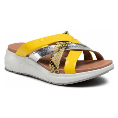 Caprice Klapki 9-27202-26 Żółty