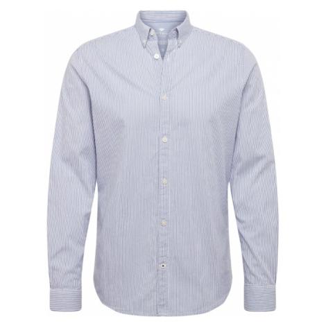 TOM TAILOR Koszula 'floyd fine basic' biały / niebieski