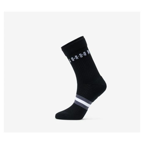 Jordan Legacy 2 Pair Crew Socks Black/ White/ White