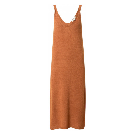 TOM TAILOR DENIM Sukienka z dzianiny brązowy