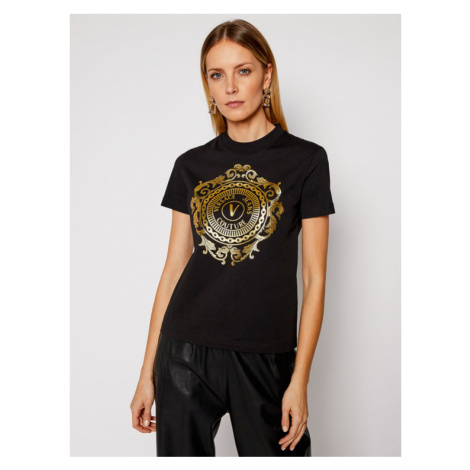 Versace Jeans Couture T-Shirt B2HWA7FA Czarny Regular Fit