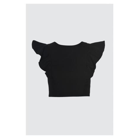 Trendyol Black Flywheeing Szczegółowa bluzka