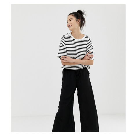 Pull&Bear culotte trousers in black Pull & Bear