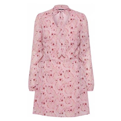 Boohoo Sukienka koszulowa różowy pudrowy / burgund