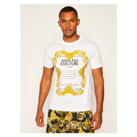 Versace Jeans Couture T-Shirt B3GZA7TG Biały Slim Fit