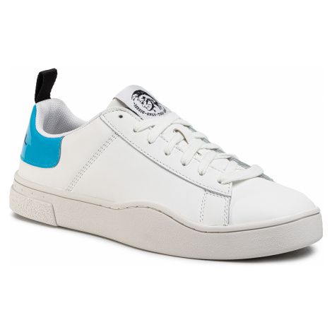 Sneakersy DIESEL - S-Clever Low Lace Y02045 P0299 H7797 White/Blue Fluo