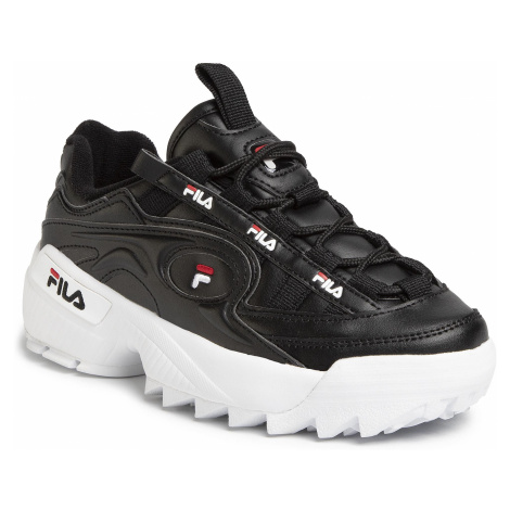 Sneakersy FILA - D-Formation Wmn 1010856.13S Black/White/Fila Red