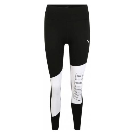 PUMA Spodnie sportowe biały / czarny