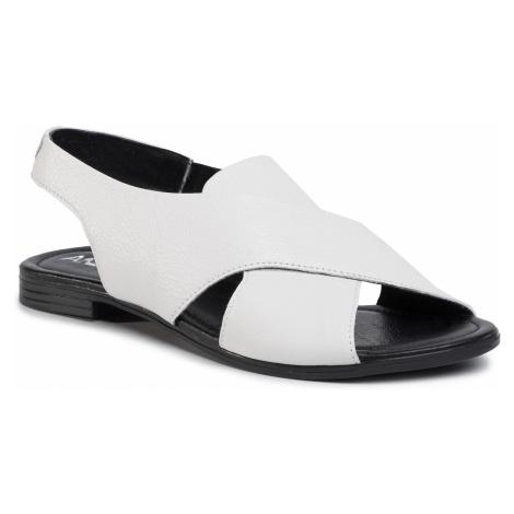 Sandały ANN MEX - 1039 00GDR Biały