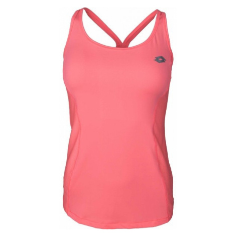 Lotto INDY V TANK PL W różowy M - Koszulka fitness damska