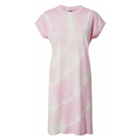 Urban Classics Sukienka 'Tye Dye' różowy pudrowy