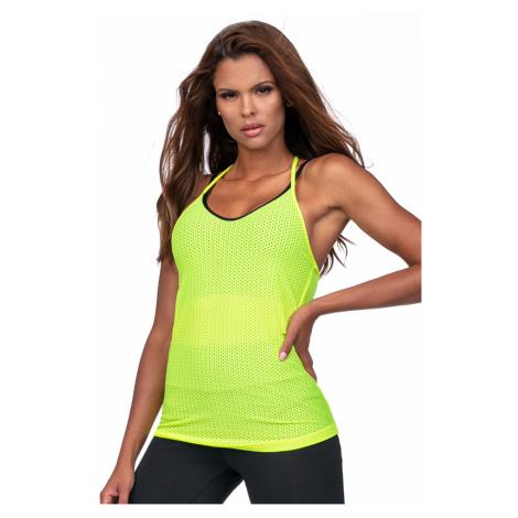 Sportowa damska bluzka na ramiączkach - zielona Lorin