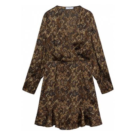MANGO Sukienka 'Miss' beżowy / brązowy / czarny