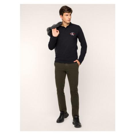 Calvin Klein Spodnie materiałowe K10K104039 Zielony Regular Fit