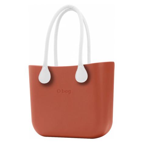 O bag torebka Terracotta z długimi białymi uchwytami ze skajki