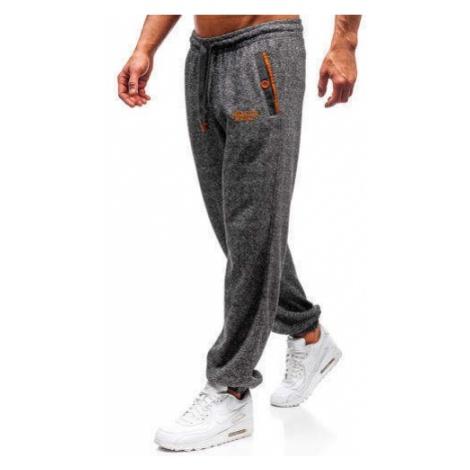 Spodnie męskie dresowe grafitowe Denley Q3473 CRWS DNM