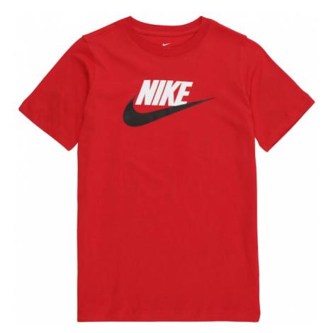 Nike Sportswear Koszulka czerwony / biały / czarny