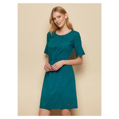 Tranquillo oliwkowy sukienka ze wzorami