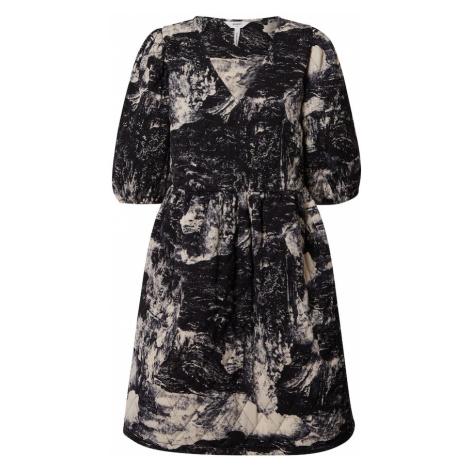 OBJECT Sukienka 'OBJELIA' czarny / pełnobiały