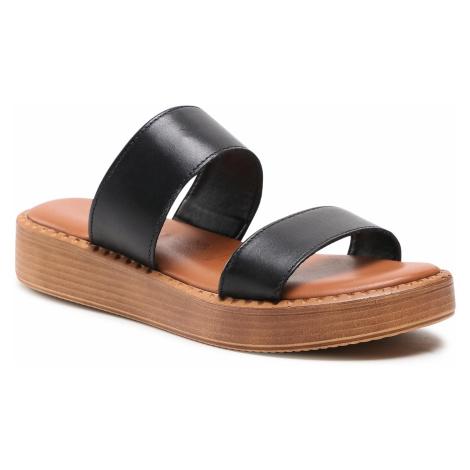 Klapki TAMARIS - 1-27249-36 Black Leather 003