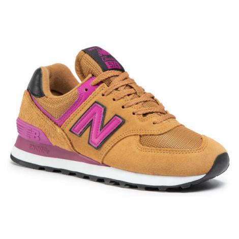 New Balance Sneakersy WL574LBJ Brązowy
