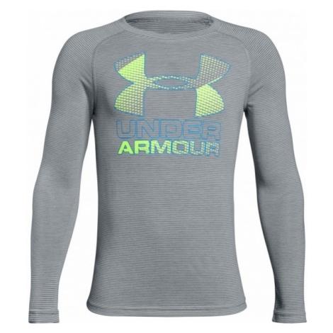 Under Armour HYBRID BIG LOGO LS TEE - Koszulka chłopięca