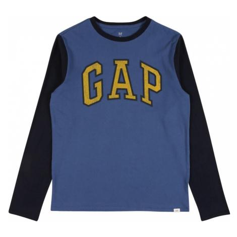 GAP Koszulka jasnoniebieski / ciemny niebieski / złoty żółty