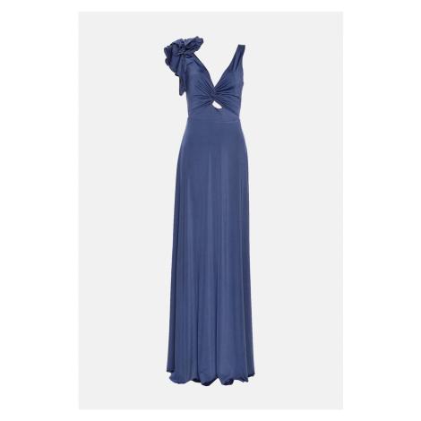 Trendyol Indigo zebrane szczegółowe suknia wieczorowa & suknia ukończenia