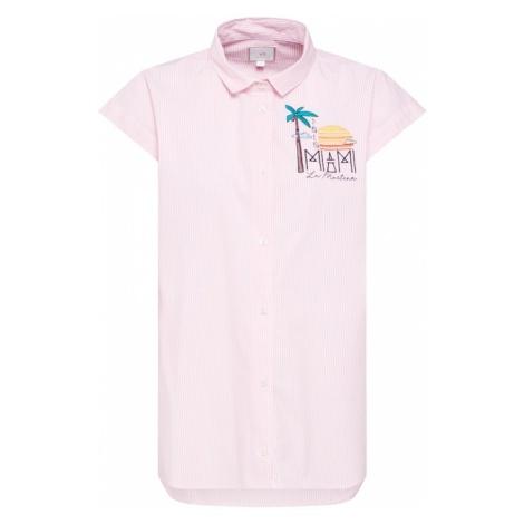 La Martina Bluzka 'WOMAN SHIRT S/S STRIPED POPLIN' różowy pudrowy / biały