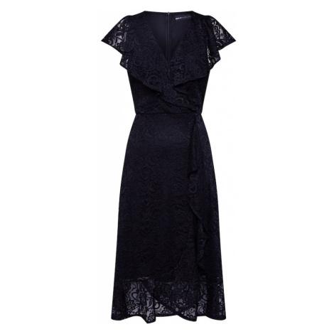 Mela London Sukienka 'RUFFLE OVERLAY DRESS' czarny