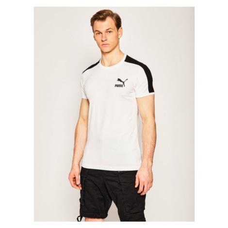 Puma T-Shirt Iconic T7 581558 Biały Slim Fit