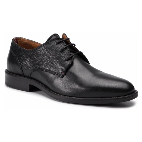 Półbuty TOMMY HILFIGER - Essential Leather Mix Shoe FM0FM02100 Black 990