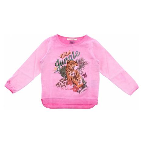 Pepe Jeans Bluza dziecięca Różowy