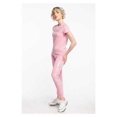 Spodnie Karl Lagerfeld Dresowe Rhinestone Logo Pants 211W1063510-510 Pink