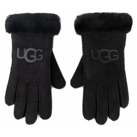 Rękawiczki Damskie UGG - W Sheepskin Logo Glove 18691 Black