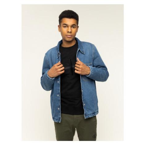 Calvin Klein Jeans Kurtka jeansowa Padded Denim Shirt J30J314386 Niebieski Regular Fit