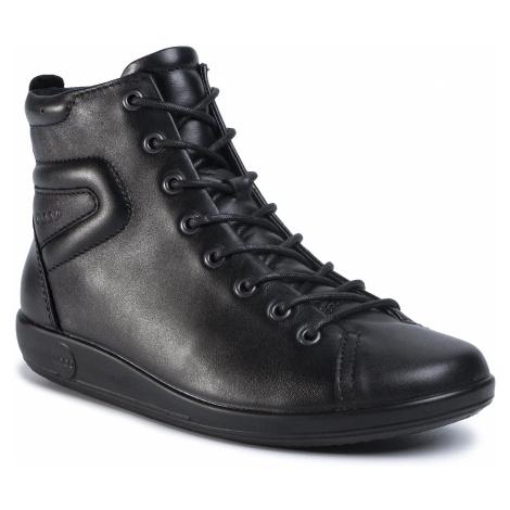 Botki ECCO - Soft 2.0 20652356723 Black With Black Sole