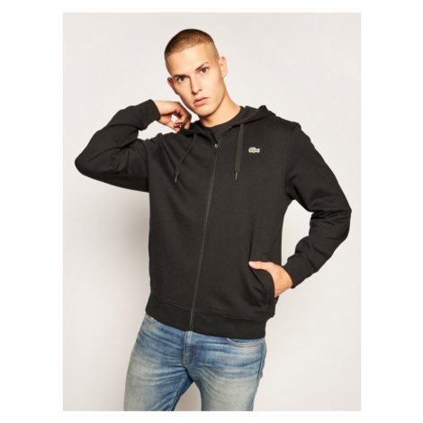 Lacoste Bluza SH1551 Czarny Regular Fit