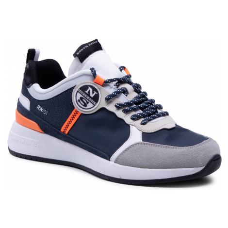 Sneakersy NORTH SAILS - RW/01 Wave 020 Navy/White/Orange Fluo