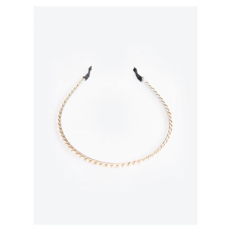 GATE Metalowa opaska do włosów z perlami