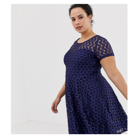 Yumi Plus Lace Skater Dress
