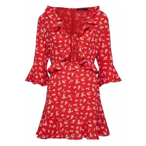 Boohoo Sukienka 'Verena' czerwony
